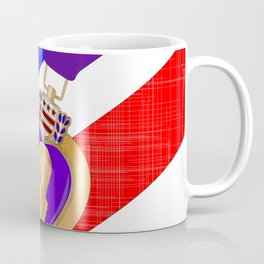 Flag and Purple Heart Coffee Mug