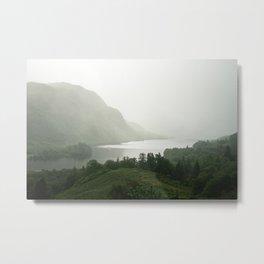 Foggy Landscape in Scottish Highlands Metal Print