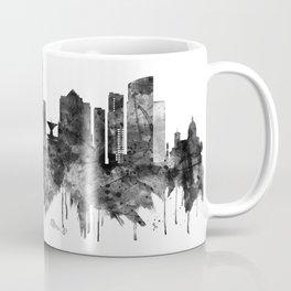 Milwaukee Wisconsin skyline BW Coffee Mug