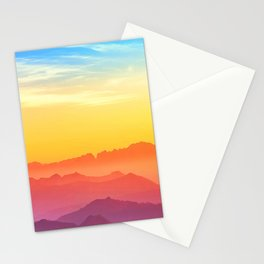 Pastel Mountains Stationery Cards