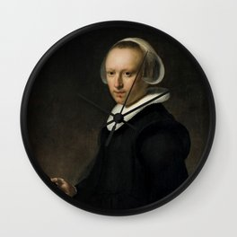 Portrait of a 39-year-old Woman Wall Clock
