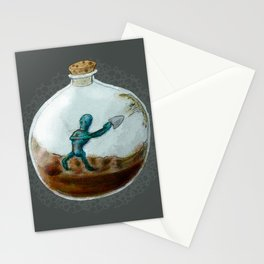 Man In A Bottle Stationery Cards