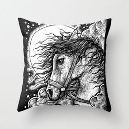 The Chariot Tarot Throw Pillow