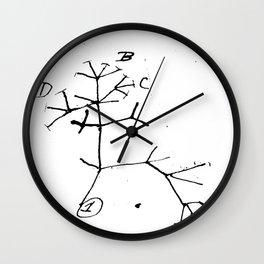 Darwin tree of life evolution science shirt Biology Nerdy Wall Clock