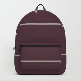 Deep Purple Taupe Gray Sponge Thin Stripe Pattern 2021 Color of the Year Epoch and Fondue Backpack