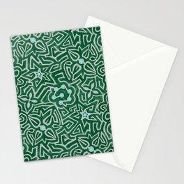 Flower hedge maze Stationery Cards