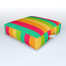 Sweet lollypop candy bright colorful stripes Outdoor Floor Cushion