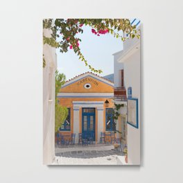 Greek Coffee bar Metal Print