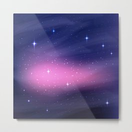 Phoenix Star in Night Galaxy Metal Print