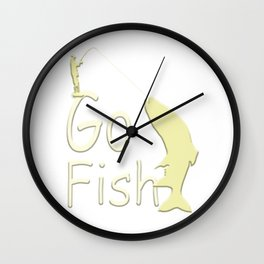 Go Fish - Creations and designs for Anglers Wall Clock