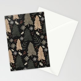 Winter in the Woods Dark Background  Stationery Cards