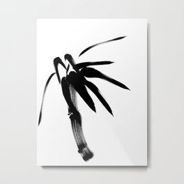 Ink Painting of Bamboo - Japanese Zen Simplicity Metal Print