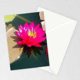 Glowing Water lily Stationery Cards