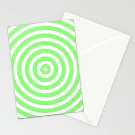 Circles (Light Green & White Pattern) Stationery Cards