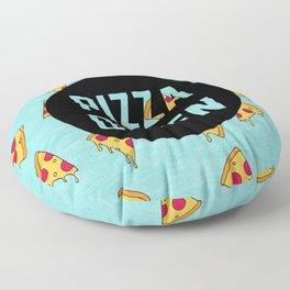 Pizza Queen - Blue Floor Pillow