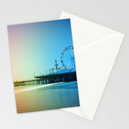 Santa Monica Pier Rainbow Colors LGBTQ Gay Pride Stationery Cards