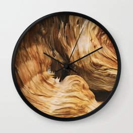 Abstract Wood Design Wall Clock