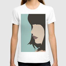Cara - a modern, minimal abstract portrait of a woman T-shirt
