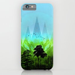 TREES under MAGIC MOUNTAINS V-HF-GREEN iPhone Case