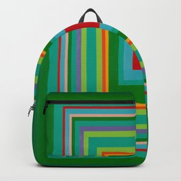 """Pop Ring Green""   Op art Backpack"