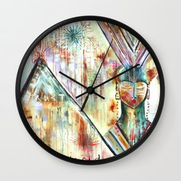 """Trust Inside"" Original Painting by Flora Bowley Wall Clock"