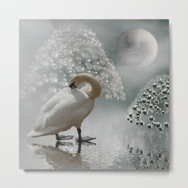 yinyang moon Metal Print