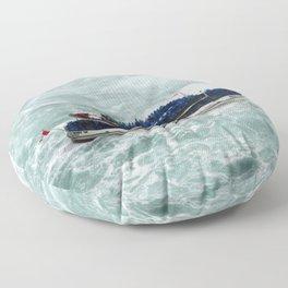 All Aboard! | Niagara Falls Landscape | Nadia Bonello Floor Pillow