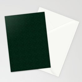 Textured dark green, solid green, dark green. Stationery Cards