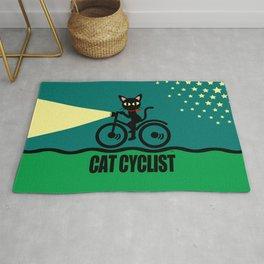 Cat Cyclist Rug