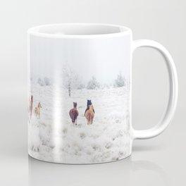Winter Horses Kaffeebecher