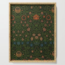 Violet and Columbine by William Morris (1834-1896) Serving Tray