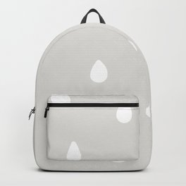 Gray Raindrop - Baby Room Pattern Backpack