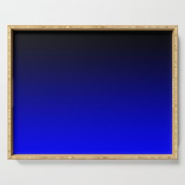 Black Blue Neon Nights Ombre Serving Tray