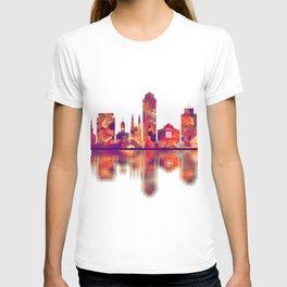 Elizabeth New Jersey Skyline T-shirt