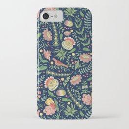 Swedish Floral - Blue iPhone Case