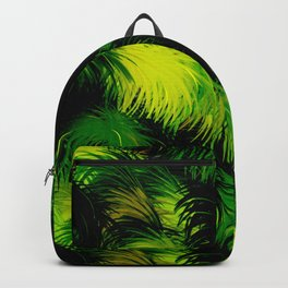 Tropical,feather like green leaf pattern Backpack
