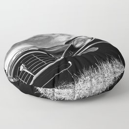 E-Type Jaguar Classic Motor Car Floor Pillow