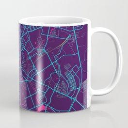 Minsk Neon City Map, Minsk Minimalist City Map Art Print Coffee Mug