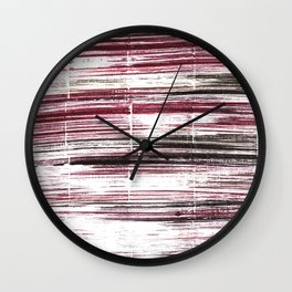Red black lines Wall Clock
