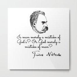 Friedrich Wilhelm Nietzsche Metal Print