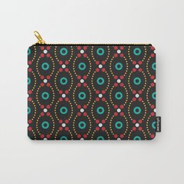 Dot Burst Pattern Carry-All Pouch