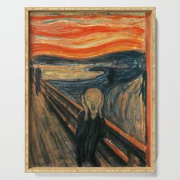 The Scream by Edvard Munch Serving Tray