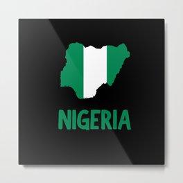 NIGERIA Metal Print