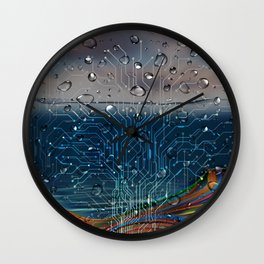 Ocean of Wires-Global Network Wall Clock