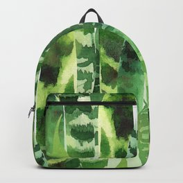 Watercolor Rain Forest Abstract Jungle Leaves Backpack