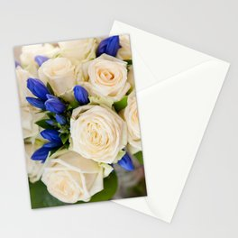 Ecru roses wedding bouquet Stationery Cards