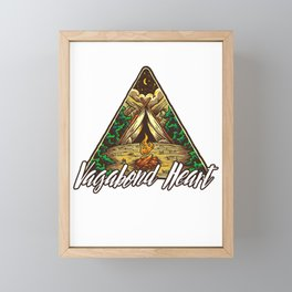 Vagabond Heart Wanderlust Camping Fire Pit  Framed Mini Art Print