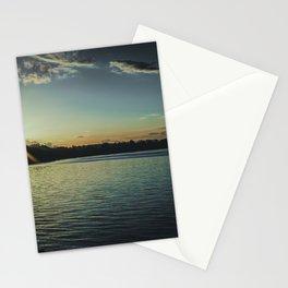 Sundown At Lake Heve 3 dark Stationery Cards
