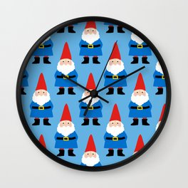 Gnome Repeat in Blue Wall Clock