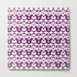 Lilac Pattern Metal Print